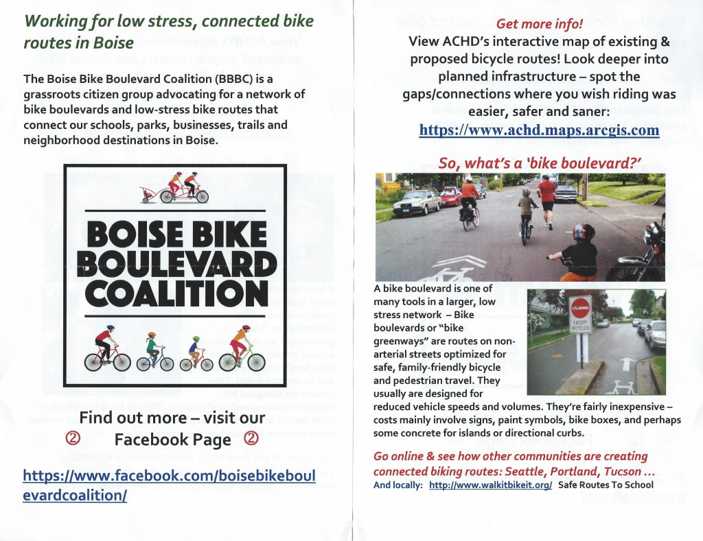 Boise Bike Boulevard Coalition   WBNABoise org